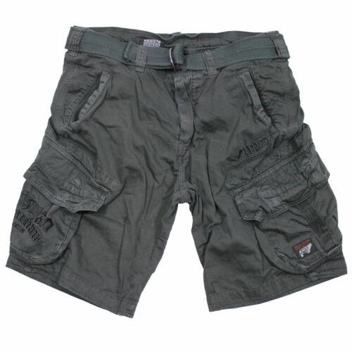 Yakuza Premium Hommes Cargo Shorts 2663 Gris Foncé Pantalon court en Taille S à 4xl