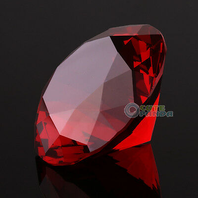 4 Color Diamond Shaped Crystal Glass Art Paperweight Wedding Favor Shower 40mm