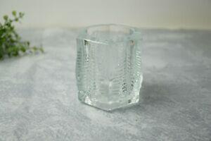 Iittala-Finland-Kuusi-Fir-Tree-Glass-Votive-Tea-Light-Candle-Holder-Jorma-Vennol