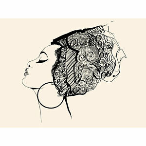 Woman-With-Headdress-Large-Wall-Art-Print-18X24-In