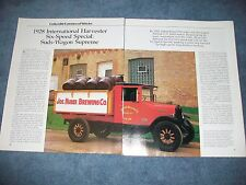 "1928 International Harvester Six-Speed Special Info Article ""Suds-Wagon Supreme"""