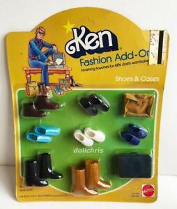 1978-Ken-Fashion-Add-Ons-Accessories-Shoes-Cases-2459-Mattel-Vtg-Superstar-Era