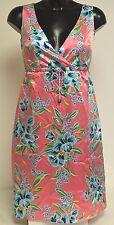 Tommy Hilfiger Ladies Pink Silk Dress UK10 US6 EU36 Sander Flower Summer Dress