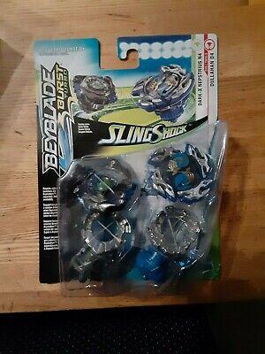 Beyblade Burst Turbo Slingshock Dual Pack Dark-X Nepstrius N4 Dullahan D4