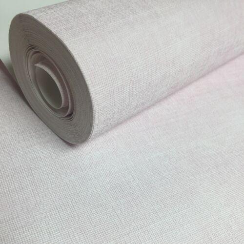 Rasch Plain Pale Pink Crosshatch Texture Non Woven Vinyl Wallpaper 700565