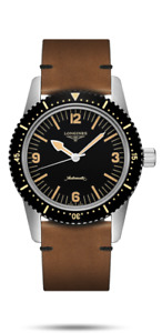 LONGINES SKIN DIVER 42MM AUTOMATIC WITH LEATHER STRAP