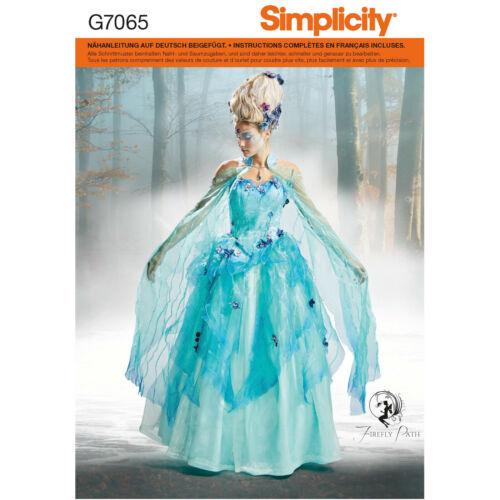 Prinzessin Schnittmuster Simplicity Nr 7065 Fantasiekostüm