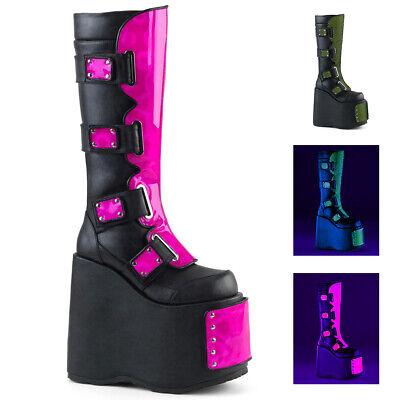 Black Neon Pink Green Platform Cyber