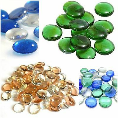 Glass Pebbles 20mm Home Wedding Mosaic Garden ***LOTS OF COLOURS***