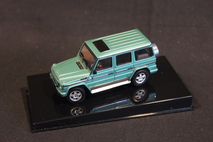 autorizzazione AutoArt AutoArt AutoArt Mercedes-Benz G-Wagon LWB 80's-90's 1 43 Mettuttiic verde (JS)  edizione limitata