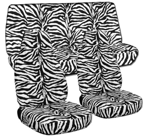 White Zebra Designcovers Seat Covers Front /& Rear Fit 87-95 Wrangler