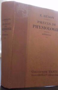 E-Hedon-Actas-de-Fisiologia-10-Eme-Edition-Coleccion-Testut-Doin-Paris-1929