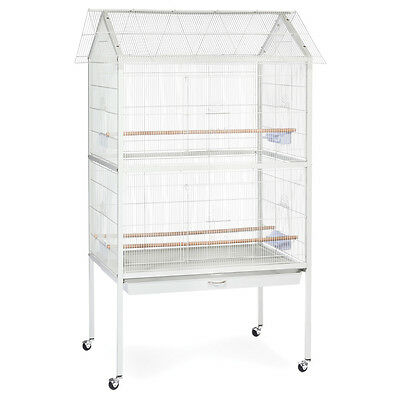 Prevue Pet Products Aviary Flight Cage with Stand F030 White