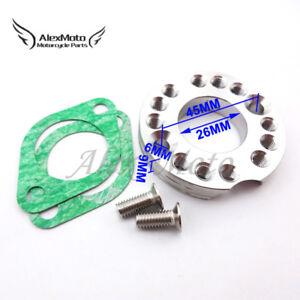 26mm Carburetor Manifold Spinner Plate Adaptor For Monkey Dax Pit Dirt Bike ATV