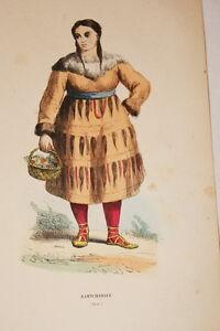ASIE GRAVURE COULEURS KAMTCHADALE FEMME COSTUME WHALEN 1843 W99 - France - Époque: XIX - France