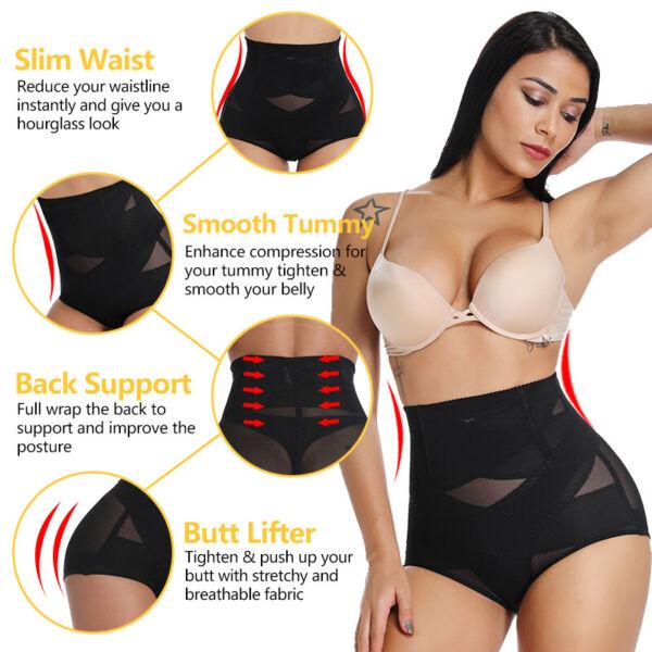 Damen Shapewear Bauchweg Unterwäsche Figurformender Mieder Shaper Höschen Slip