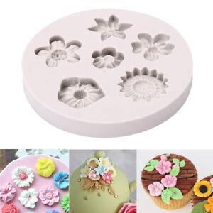 Flower-Silicone-Fondant-Mold-Cake-Mould-Decorating-Baking-Sugar-craft-Pastry