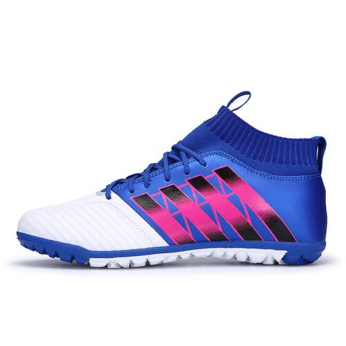 Men Football Boots High Ankle TF Soccer Shoes Kids Indoor futsal Cleats Sneakers