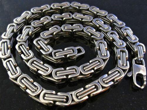 XXL  Edelstahl Königskette Byzantiner Halskette 11 mm stark 210 g 322 g Biker