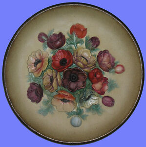 Bossons-Hand-Painted-Mint-Plate-Anemones