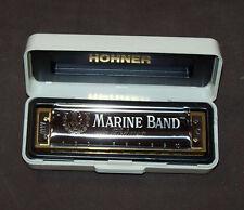 Harmonica diatonique Hohner Marine Band en Do - C. Sommier bois, Neuf - NEW