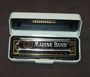 harmonica diatonic hohner marine band blues in c harmonica comb wood new ebay. Black Bedroom Furniture Sets. Home Design Ideas