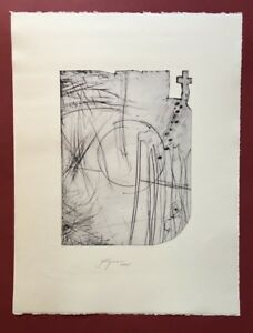Felix Droese, sopra una croce nel montagna (...), acquaforte, 2005, firmato a mano