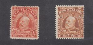 New-Zealand-KEVII-1909-3d-1-SG389-399-Mint-MH-J3659