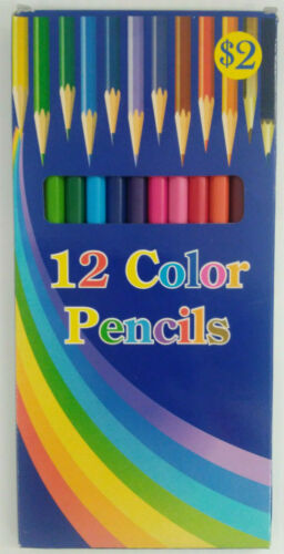 Colored Pencils Lot of 12 Boxes Pre-Sharpened 12 Pencils In Each Box