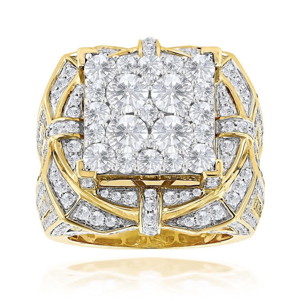MENS 14K YELLOW GOLD FN 3.00 CARAT DIAMOND ENGAGEMENT WEDDING PINKY RING BAND