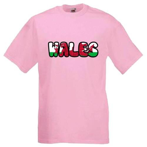 Wales Text Flag Welsh Emblem Adults Unisex Mens T Shirt