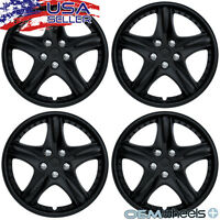 4 Matte Black 15 Hub Caps Fits Ford Windstar Center Wheel Covers Set