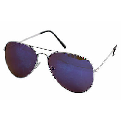 Sunglasses in Aviator Style in Royal Blue Shade in Mercury With Mirror Lens(Gogg
