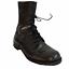 thumbnail 1 - RO Search Combat Bottes 7.5 Hommes Militaire Cuir Noir à Lacets Streetwear