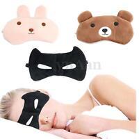 Cute Cartoon  Fast Sleeping Eye Mask Shade Cover Sleep Aid Blindfold Travel Rest