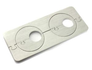 Esclusivo in acciaio inox riscaldamento variabile rosette doppio rosette Radiatore Tubo Dub  </span>