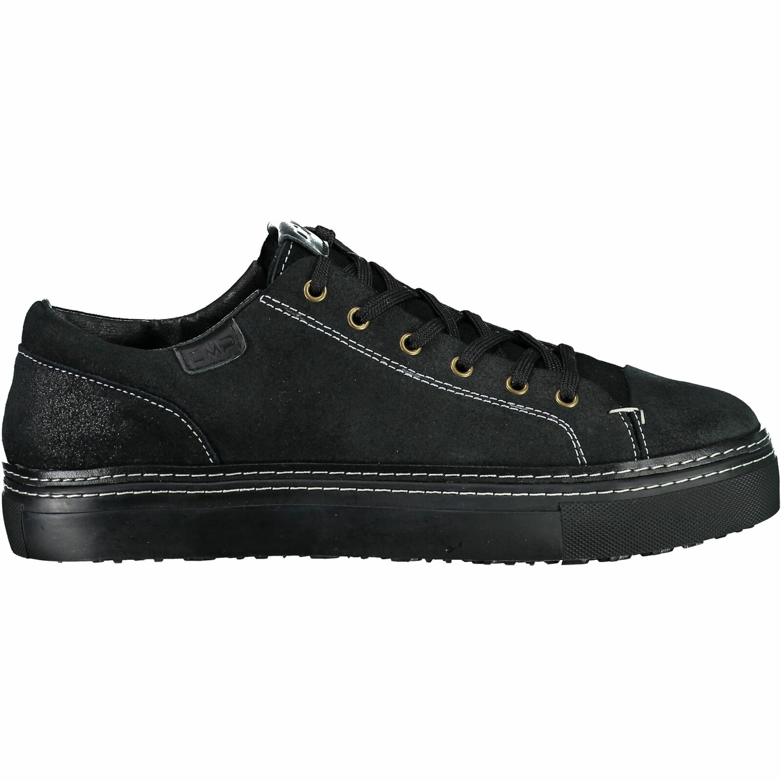 CMP paniers Libertas Lifestyle Chaussure Noir UniCouleure Cuir Sauvage