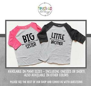 5ed41238d8db Image is loading Big-Sister-Little-Brother-Shirts-Matching-Sibling-tshirts-