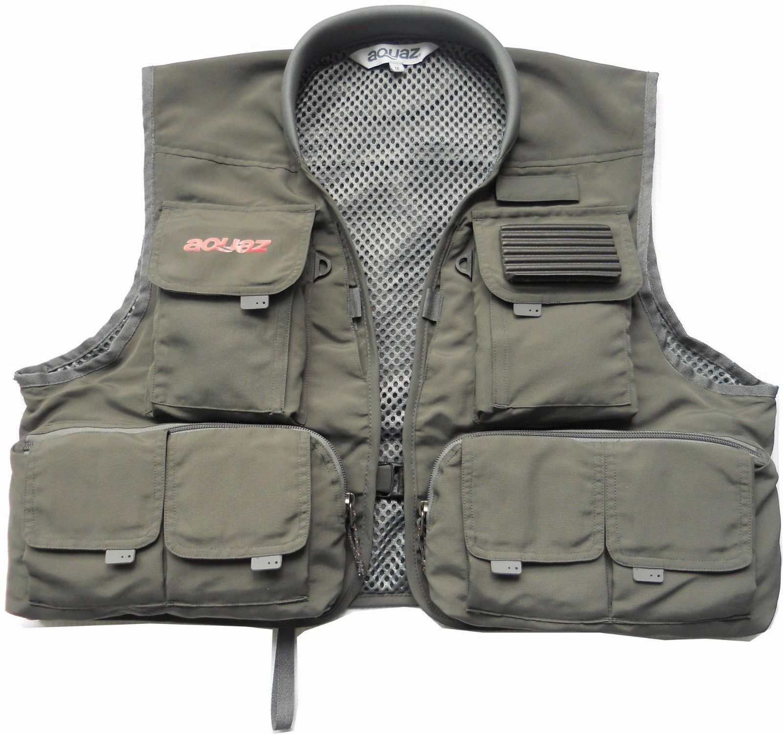 Aquaz Kenai Fly Fishing   Wading Chest Vest - Taille grand Charcoal gris Couleur nouveau