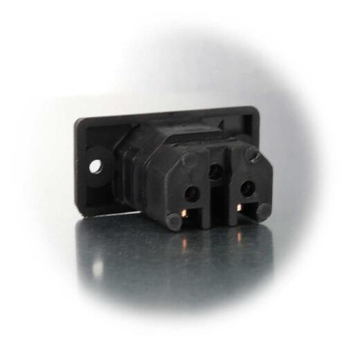 Geräte Kupplung für Heißgerät Steckgeräte Heißgeräte-Buchse 230V//10A schwarz