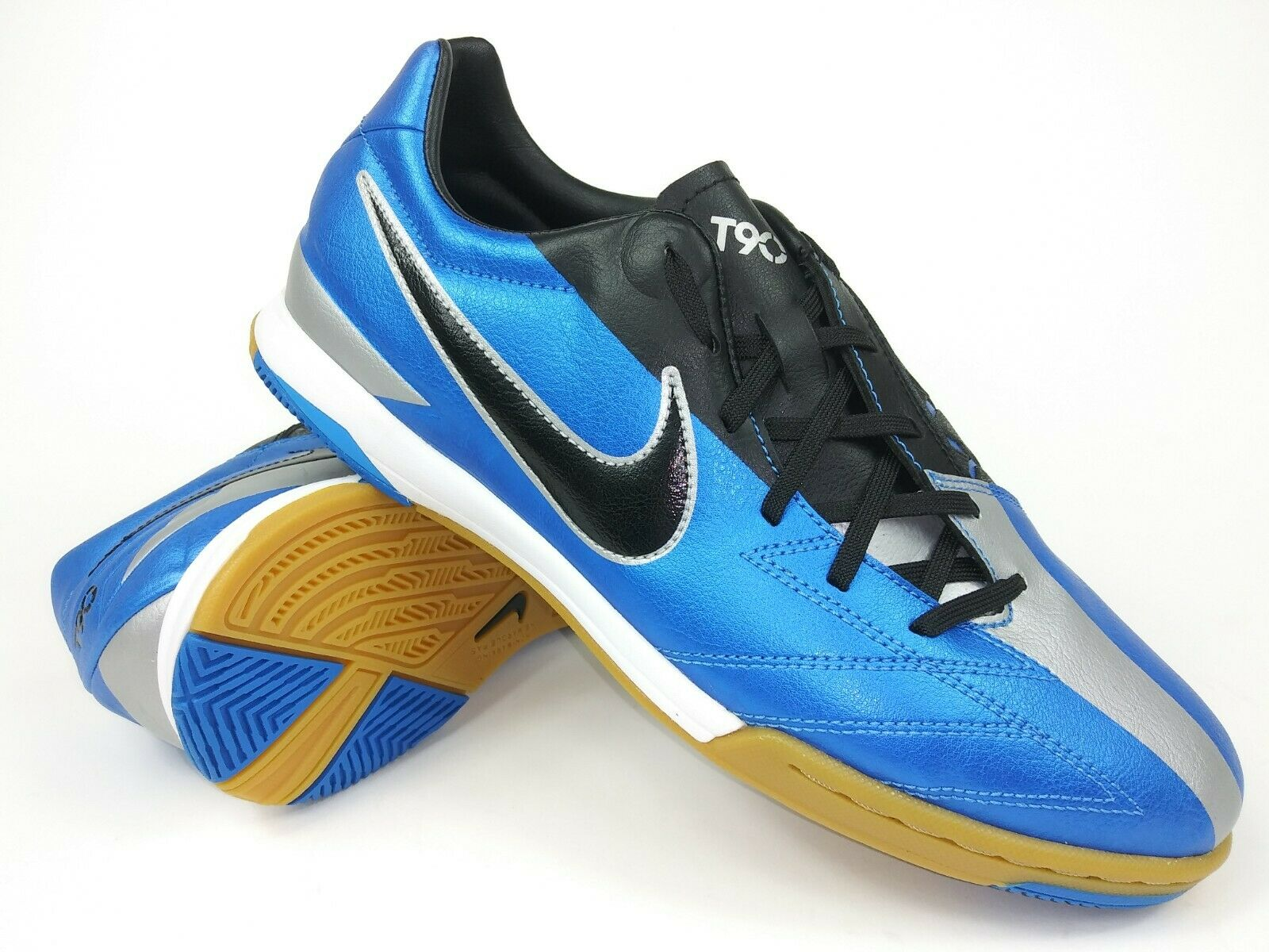 Nike Hombre Raro T90 Shoot IV IC 472558-400 Azul gris Interior Zapatos Talla 12.5