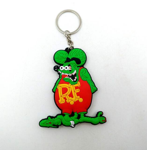 Soft Rubber Rat Fink Keychain Key Chain Figure Toy