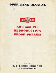 Baltimore 5x8 No-13 MANUAL PRINTING PRESS OPERATORS MANUAL PDF