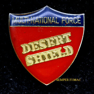 OPERATION DESERT SHIELD MULTI-NATIONAL-FORCE HAT PIN US ARMY MARINES NAVY USAF