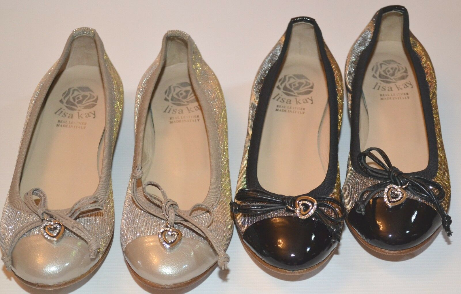LISA KAY DOLLY IRIDESCENT TAUPE PATENT PATENT PATENT LEATHER BALLERINA SHOES UK 3 EURO 36 d9add2