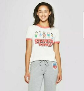 STRANGER-THINGS-2-80s-ARCADE-Graphic-PIXELS-Will-Mike-11-Lucas-DUSTIN-Shirt-XL