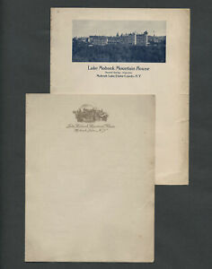 New Paltz NY: 2 Pieces Vintage LAKE MOHONK MOUNTAIN HOUSE Guest Stationery