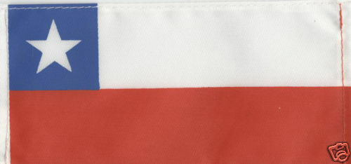 CHILE 6inch x 3inch Quality Satinette Table Flag
