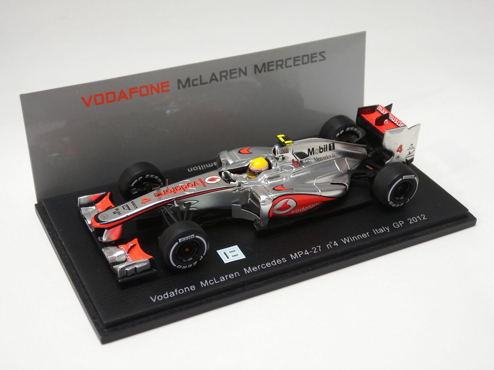 Vodafone McLaren MP4-27, No.4, gagnant L.  Hamilton ITALIE GRAND PRIX 2012 Spark 1 43 S3047  achats de mode en ligne
