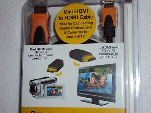 NEW 6 Feet Mini-HDMI to HDMI Cable --- FREE SHIP